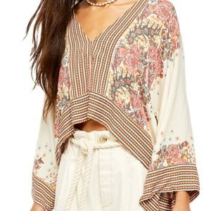 """FREE PEOPLE """"Mix-n-Match Blouse"""" NWT"""